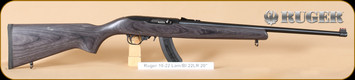 Ruger - 10/22 - 22LR - Deluxe Sporter Laminate, Blued, Williams fibre optic sight, BX25 magazine (limited to 10rds), 20""