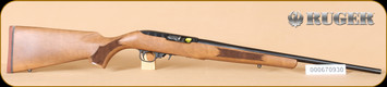 "Ruger - 10/22 - 22LR - French Walnut/Blued, no sights, 20"" - b"