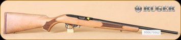 "Ruger - 10/22 - 22LR - French Walnut/Blued, no sights, 20"" - e"