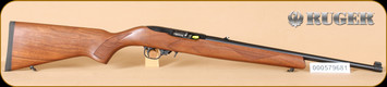 "Ruger - 10/22 - 22LR - Deluxe Sporter Carbine, checkered walnut/blued, 18.5"" - h"