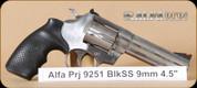 """Alfa Proj - Mod 9251 - 9mm - Classic, SS, 4.5"""""""