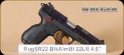 """Ruger - SR22 - 22LR - Blk Anodized, Adj. 3 dot sight, 4.5"""""""