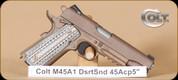 "Colt - M45A1 - 45ACP - FDE/Ion Bond, Accesory Rail, 5"""