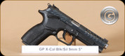 Grand Power - X-Caliber - 9mm - BlkSyn/Silver - 4 Interchangable Grips, 2 Mags, 4.3""