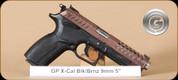"Grand Power - X-Calibur - 9mm - BlkSyn/Bronze - 4 Interchangeable Grips, 2 Mags, 5"""