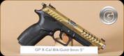 "Grand Power - X-Calibur - 9mm - BlkSyn/Gold - 4 Interchangeable Grips, 2 Mags, 5"""