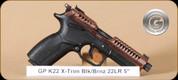 """Grand Power - K22 X-Trim - 22LR - BlkSyn/Bronze - 4 Interchangeable Grips, 2 Mags, 5"""""""