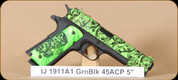 Iver Johnson - 1911 A1 - 45ACP - Zombie Green, 5""
