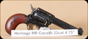 Heritage - Rough Rider - 22LR/22WMR - Cocobolo grips (bird's head grip), blued,  two cylinders, 4.75""