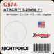 NIGHTFORCE - ATACR - 5-25x56 F1 - ZeroStop - .1 Mil-Radian - DigIllum - PTL - TReMor3 - C574