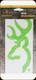 "Browning - Buckmark Decal - Lime Green - 6"""