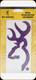 "Browning - Buckmark Decal - Purple - 6"""