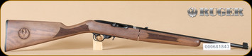 "Ruger - 10/22 - 22LR - Deluxe Classic VI Walnut Stock/Blued, Takedown Rifle, includes bag, 18.5"", 18.5"" - C"
