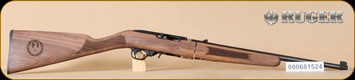"Ruger - 10/22 - 22LR - Deluxe Classic VI Walnut Stock/Blued, Takedown Rifle, includes bag, 18.5"", 18.5"" - D"