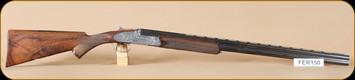 """Consign - Ferlib - 20Ga/3""""/28"""" - O/U - Wd/Bl, Bulino engraved receiver, vent rib brl, Leather hardcase"""