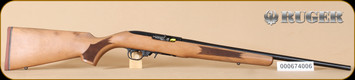 "Ruger - 10/22 - 22LR - French Walnut/Blued, No sights, 20"" - H"