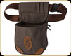 Browning - Lona-  Canvas/Leather Shell Pouch - Flint & Brown