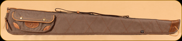 "Browning - Lona - Canvas/Leather Flexible Shotgun Case - Flint&Brown - 52"""