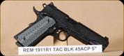 """Remington - 1911 R1 - 45ACP - Tactical, G10 Grips/Blk, 5"""""""