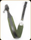 "Levy's Leather - Leather Sling - 2 1/4"" Black & Green Suede Padded Style - SN14-BLK/GRN"