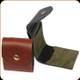 """Levy's Leather - Leather Shell Pouch - 3 1/2"""" Walnut Magnum Rifle Cartridge Pouch - SN40-WAL"""