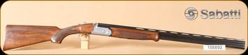 "Sabatti - Jaguar - 20Ga/28"" - Select walnut, schnabel forend, polished blue/silver coin finish"