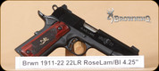 Browning - 1911-22 - 22LR - Medallion, Rosewood Lam/Bl, 4.25""