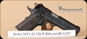 Browning - 1911-22 - 22LR - Black Label full size, BlkLam/Bl, 4.25""