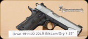 Browning - 1911-22 - 22LR - Black Lite, BlkComp/Gry, 4.25""