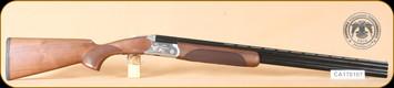 "Huglu - 103C - 12Ga/3""/28"" - Wd/Bl, silver receiver, birds & engraving, mobile choke - b"