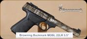 "Browning - Buckmark - 22LR - Camper UFX, BlkSyn/Camo, 5.5"""