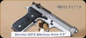 """Beretta - 92FS - 9mm - BlkSyn/SS, 5"""""""