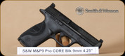 S&W - M&P9 - 9mm - Pro Series, C.O.R.E., BlkSyn/Bl, 4.25""