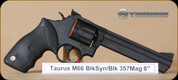 """Taurus - 66 - 357Mag - BlkSyn/MatteBlk, 6"""""""