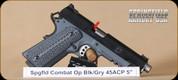 "Springfield - 1911 - 45ACP - Combat Operator, Lipsey's Exclusive, Blk/Grey, G10 Grips, 5"""