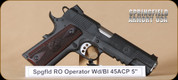 Springfield - 1911 - 45ACP - Range Officer Operator, Cocobolo grips, carbon steel frame, 5""