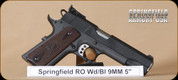 Springfield - 1911 - 9MM - Range Officer, Cocobolo grips, Carbon Steel Finish, 5""