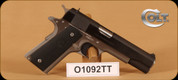 "Colt - 1991 - 9mm - Government, Series 80, Blk Slide/SS Frame, 2 magazines, 5"" bbl, Fixed White Three Dot Sights"
