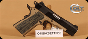 "Colt - Lightweight Commander - 45ACP - Series 70, Blk Slide/FDE Frame, 2 Magazines, 4.25"" bbl, Novak Sights, Thin G10 Grips"