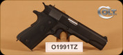 "Colt - M1991A1 - 45ACP - Series 80, Blk Slide/Frame/Grips, 1 Magazine, 5"" bbl, Extra Brown Plastic Grips"