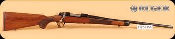 "Ruger - M77 - 358Win - Wd/Bl, 2016 Edition, basket-weave checkering, one of 150, 22"", s/n: 7120355"
