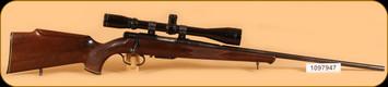 "Consign - Anschutz - 222Rem - Model 1530-1534 - Wd/Bl, 24"", c/w Burris Fullfield 6-18, Extra Mag"