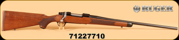 "Ruger - M77 - 358Win - Wd/Bl, 2016 Edition, basket-weave checkering, one of 150, 22"", s/n: 71227710"