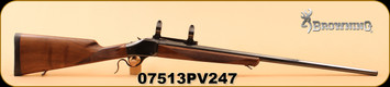 """Consign - Browning - 7mmRemMag - Model 1885 - 28"""" Octagon Barrel, Low Round Count - c/w black hard case"""