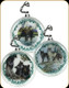 Wildlife Hollow Glass Ornament - 3pck