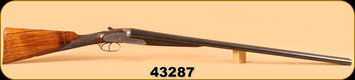 """Consign - W.C. Scott - 12Ga/30""""- Army & Navy CSL - 7 Pin Side Lock, c/w Canvas Hardcase, Original Cleaning Rods"""