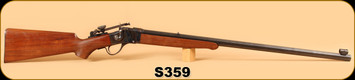 """Used - C Sharps - 40-65 - Model 1875 - Wd/Bl, Case Colored Receiver, 30"""" Octagon Bbl, c/w Soul Style Long Range Tang Site, Globe Front Site and Level"""