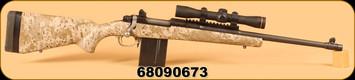 "Consign - Ruger - 6.5Creedmoor - M77 - Gunsite Scout, 18.5"" c/w Leupold FX-II 2.5x28 Scout Scope Duplex, 100+ pcs of Brass (Lapua and Hornady)"
