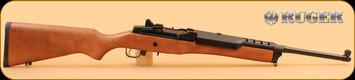 "Ruger - Mini 14 - 5.56NATO - Wd/Bl, Ranch Rifle, 18.5"" - Model 5801"