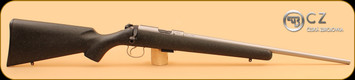 """CZ - 455 - 22LR - Stainless, Soft Touch Blk w/Green Stock, 20.5"""""""